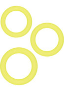 Renegade Diversity Silicone Cock Rings Yellow