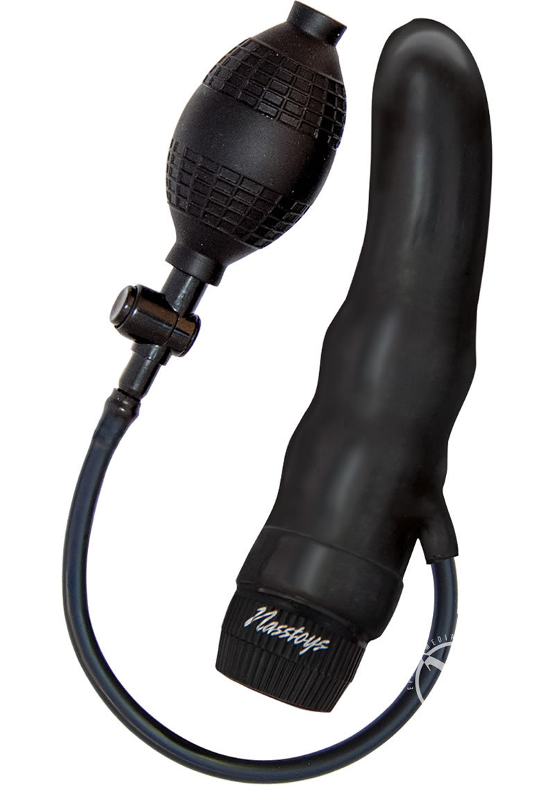 Ram Inflatable Black Jack Vibrating Dong Black 7.8 Inch